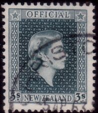 NEW ZEALAND 1954 3/- Official fine used. ACS cat $NZ75.....................41286
