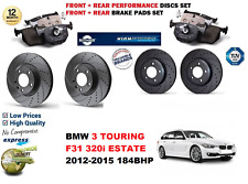 FOR BMW 320 F31 ESTATE 12-15 FRONT REAR PERFORMANCE DRILLED BRAKE DISC + PAD KIT