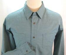 PAPER DENIM & CLOTH MENS SZ XL BUTTON FRONT TEAL BLUE CASUAL SHIRT