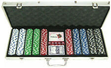 500 heavyweight poker chips in executive aluminium case. FREE P&P *parts of UK