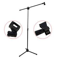 Soporte de micrófono Heavy Duty con Micrófono Clip Negro Ajustable Soporte boom para micrófono