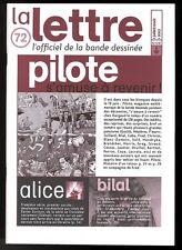 LA LETTRE DARGAUD N ° 72     PILOTE MAGAZINE     Juil / Aou  2003