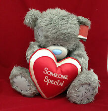 "ME TO YOU BEAR/TATTY TEDDY 20"" SOMEONE SPECIAL RED & CREAM PADDED HEART BEAR"