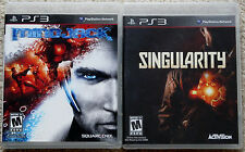 PS3 Game Lot - Mindjack (Used) Singularity (New)