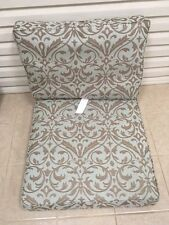 2 pc Frontgate Sorrento Outdoor CHAIR Sofa Cushions 31x32 Spa Blue Fast Dry NEW