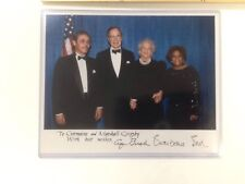 George & Barbara Bush Signed Official White House Photograph Benedict College