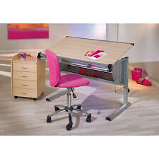 Bureau enfant modulable orientable rectangulaire ergonomique reglable HÊTRE