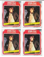 (4) 1980 Topps Empire Strikes Back Han Solo Bespin RC LOT Star Wars HIGH END