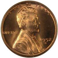1952 S 1c Lincoln Wheat Cent Penny US Coin BU Uncirculated Mint State