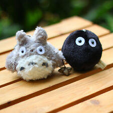 2PCS New My Neighbor Totoro Mini Plush Toy Doll Bag String Pedant Keychain Gift