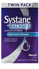 2 Pack- Systane Balance Eye Drops Twin Pack - 2x2 10mL Bottles (4 Total) box iss