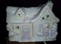 Precious Moments Sugar Town Christmas Night Light Porcelain House Enesco 1994