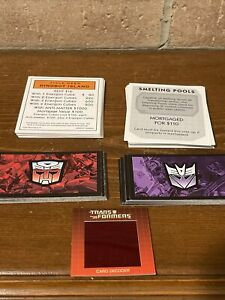 Monopoly Transformers Collector's Edition 2007 Replacement Cards & Decoder