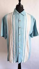 Island Shores Mens Hawaiian Style Button Down Short Sleeve Camp Shirt Size Large