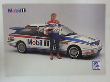 Ford Sierra Cosworth  Mobil 1  Promo Card - 1987 - Racing with Mike Smith
