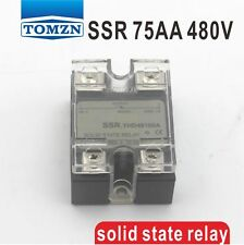 75AA SSR input 90-250V AC load 24-480V AC single phase AC solid state relay