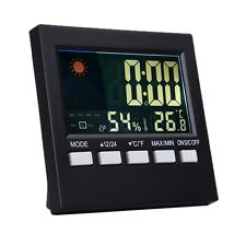 Color LCD Digital Thermometer Hygrometer Temperature Meter Gauge Weather Station