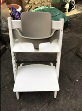 Stokke Tripp Trapp Highchair In White Colour With Baby Set And Extended Gliders