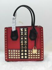 ✨🎁100% Authentic Michael Kors - MERCER Studded-Red Mini Accordion New & Tags