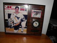 KEVIN STEVENS PIC & HAND SIGNED PUCK with HOCKEY CARD PENGUINS FLYERS BUY IT NOW