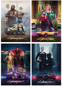 Cyberpunk 2077 Poster Style Posters Home Decor Game Wall Art Print A3 A4 5x7