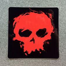 ZERO Blood Skull Skateboard Sticker 3.8in red/black si