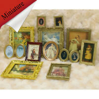 Miniature Dollhouse Framed Wall Painting 1:12 Scale Doll House Accessories