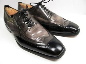 Stacy Adams WingTip  Multi Color Patent Leather Mens Shoes Size 9.5 M
