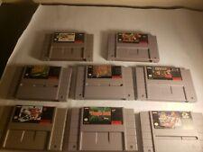 Lot Of 8 Super Nintendo Games