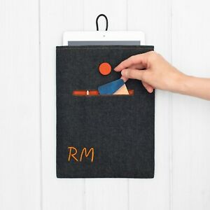 Custom Embroidered Monogram Case Cover iPad Air 10.9 4 10.2 5th 6 7th Mini Pro