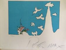 EARLY PRINT RARE PETER MAX SIGNED LITHOGRAPH LIMITED EDITION FULL SIGNATURE