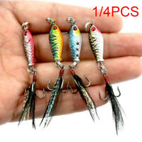 Hard Metal Fishing Lures Small Minnow Lure Bass Crank Bait Tackle Hooks -5.27g