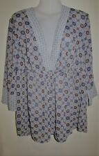 AUTOGRAPH Sheer Floral 3/4 Sleeve Top Size 16