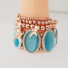 Sommerangebot Set aus Armband 60mm Durchmesser & 3er Set Armbänder rosé vergolde