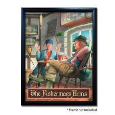 FISHERMANS ARMS PUB SIGN POSTER PRINT | Home Bar | Man Cave | Pub Memorabilia