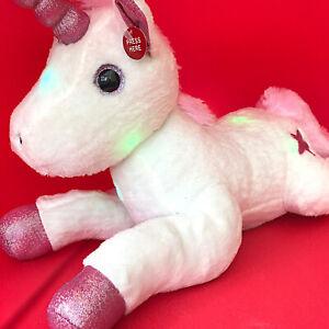 "17"" Christmas Wonderland Unicorn Plush Hugable Multi-colour changing Night Light"