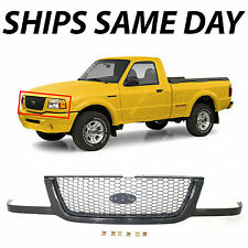 New Black / Silver - Front Center Grille Grill For 2001-2003 Ford Ranger Pickup