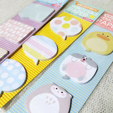1x Speech Bubble Shaped Sticky Notes Memo Pad Bookmark Index Flag Tab Sticker