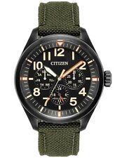 Citizen BU2055-16E Mens Eco-Drive Green Nylon Chronograph Day/Date Watch