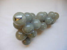 Vintage Carved Alabaster Grapes Cluster Bunch Large Mid Century Blue Italy