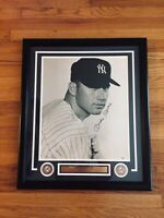 Mickey Mantle Signed Autograph 16 X 20 Photo Custom Frame PSA/DNA COA Letter