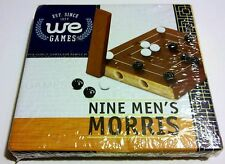 NEW, FACTORY SEALED - TRAVEL SIZE NINE MEN'S MORRIS TABLE GAME BY WE GAMES 2007