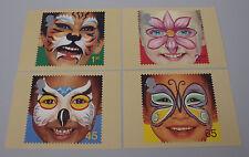 2001 DIRITTI DEL BAMBINO FACCIA dipinti PHQ 227-Nuovo di zecca schede PHQ-Set di 4