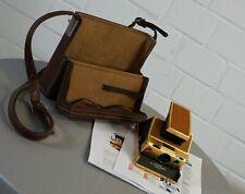 Polaroid SX-70 Alpha 1 Land Camera Gold Edition in original Tasche 70er Jahre