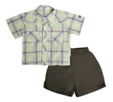 Oshkosh B'gosh Checkered Polo with Short Set (OCSS #10) - Size: 3 months