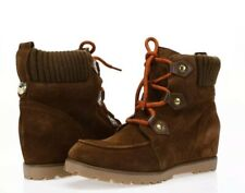 TOMMY HILFIGER Ladies NEW 'Serafin' Brown Suede Leather Boots - Size 9M