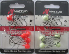 2 - MATZUO Weedless Sickle Jig - 5/Pk - 1/4 oz. - Two Hot Colors!
