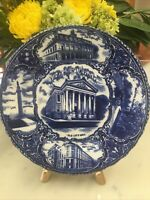 "New Orleans Louisiana Blue White Collector's Plate 9"" England, Souvenir"