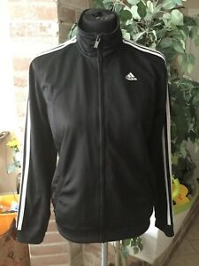 Adidas Jacket Youth Girl L 14-16 Black Very Good Condition