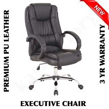 NEW PU LEATHER OFFICE CHAIR PREMIUM EXECUTIVE COMPUTER 3 YEAR PREMIUM WARRANTY